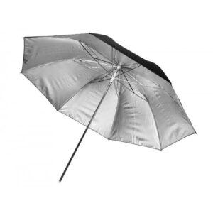 black silver umbrella photography